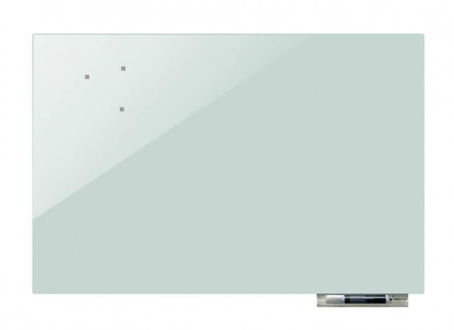 Дошка магнітно-маркерна скляні GL120180, 120x180 (Світло-сірий), фото 2