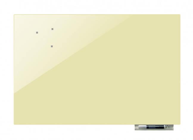 Дошка магнітно-маркерна скляні GL7575, 75x75 (Бежевий), фото 2