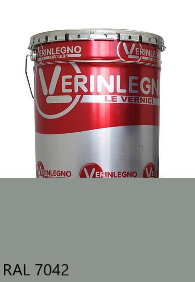 Краска полиуретановая для мебели Verinlegno Италия, Цвет  RAL 7042, двухкомпонентная
