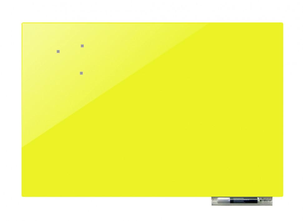 Дошка магнітно-маркерна скляні GL7575, 75x75 (Жовтий)