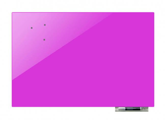 Доска магнитно-маркерная стекляная GL75100, 75x100 (Вереск                                         ), фото 2