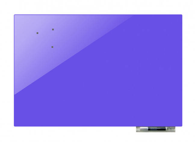 Доска магнитно-маркерная стекляная GL75100, 75x100 (Сирень                  ), фото 2
