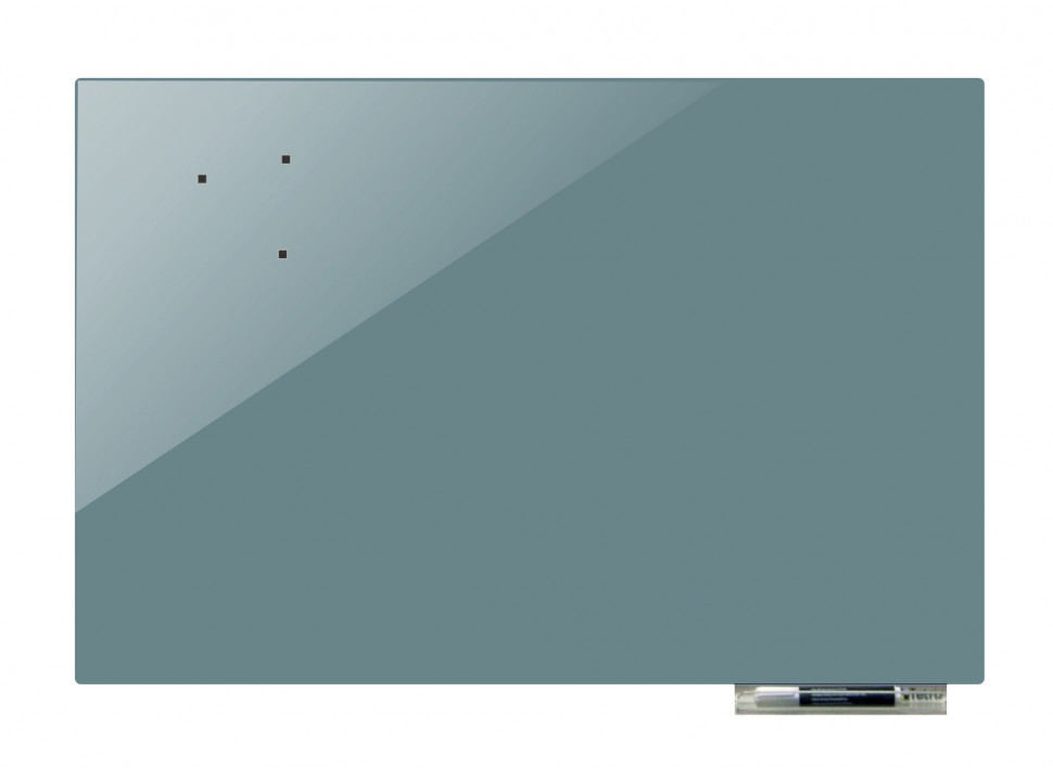 Доска магнитно-маркерная стекляная GL5050, 50x50 (Темно-серый            )
