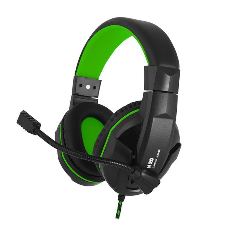 Накладные Наушники Гарнитура Gemix N20 Black/Green (04300107)