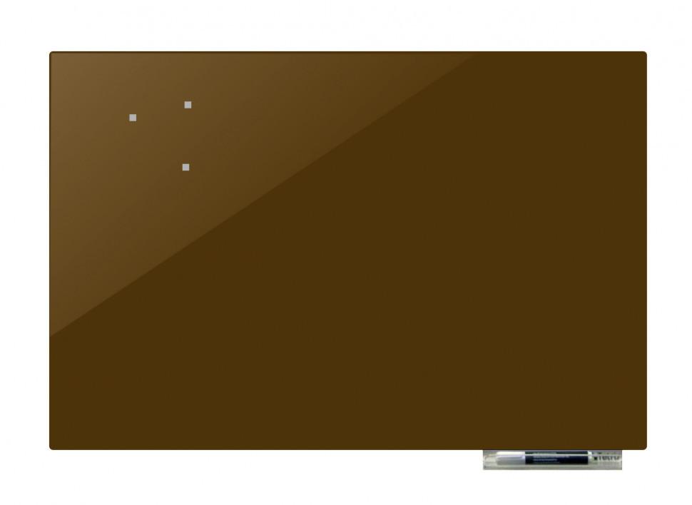 Доска магнитно-маркерная стекляная GL5075, 50x75 (Оливковый                                       )