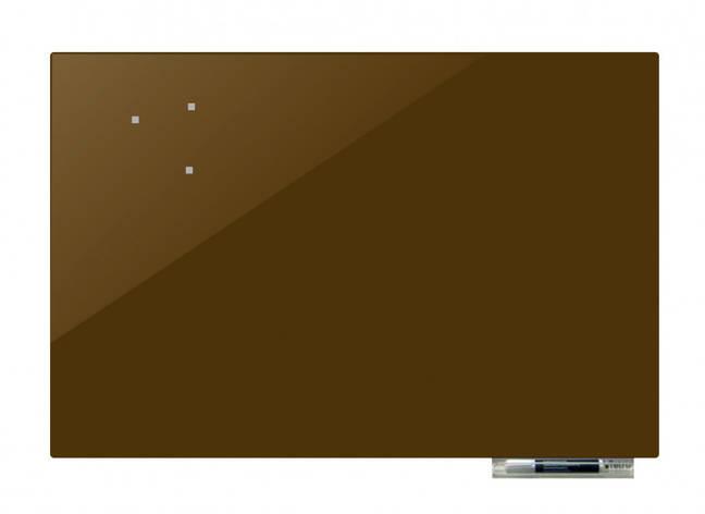 Дошка магнітно-маркерна скляні GL5075, 50x75 (Оливковий ), фото 2
