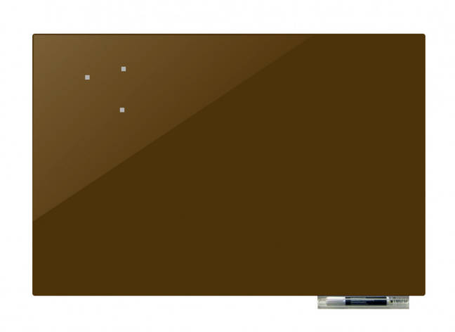 Доска магнитно-маркерная стекляная GL5075, 50x75 (Оливковый                                       ), фото 2