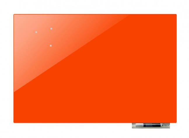 Дошка магнітно-маркерна скляні GL5075, 50x75 (Помаранчевий ), фото 2