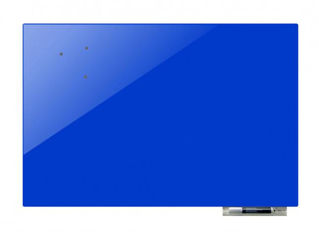 Доска магнитно-маркерная стекляная GL5075, 50x75 (Синий                                                   ), фото 2