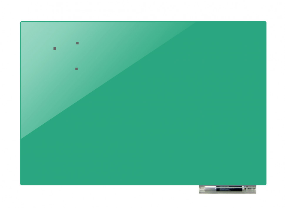 Доска магнитно-маркерная стекляная GL5075, 50x75 (Бирюзовый