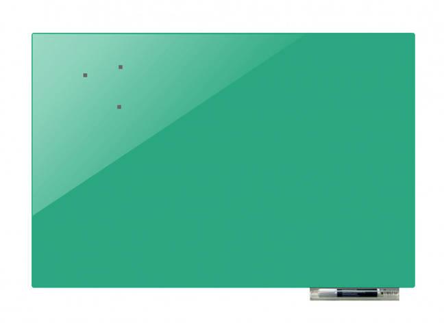 Доска магнитно-маркерная стекляная GL5075, 50x75 (Бирюзовый, фото 2