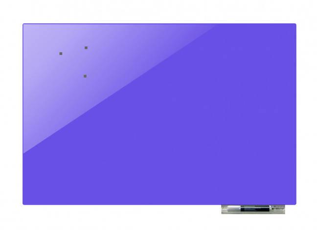 Дошка магнітно-маркерна скляні GL6090, 60x90 (Бузковий ), фото 2