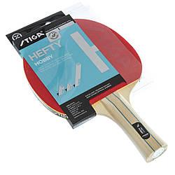 Ракетка для настольного тенниса 1 штука древесина, резина STIGA SGA-1210151701 HEAFTY HOBBY ES, КОД: 2459348