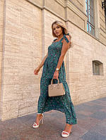Женское нежное платье макси с цветочным принтом на бретелях (Норма), фото 5