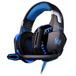 Геймерские наушники Kotion Each G2000 Pro Gaming с подсветкой Черно-синий hpkotg2000probb ES, КОД: 1868093