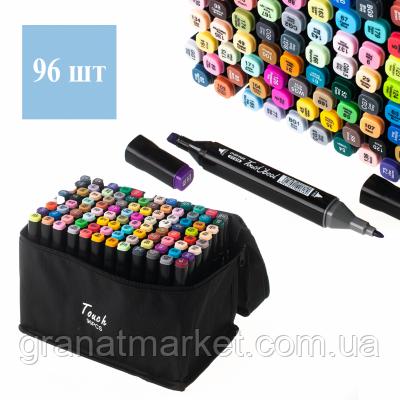Набір двосторонніх скетч маркерів Touch bool на спиртовій основі 96 штук в сумці