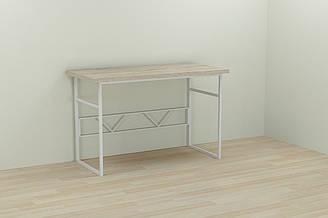 Компьютерный стол Ferrum-decor Раян 75x140x70 белый ДСП Дуб Сонома 32мм ES, КОД: 2352301