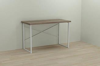 Компьютерный стол Ferrum-decor Дейв 75x140x60 белый ДСП Дуб Сонома Труфель 32мм ES, КОД: 2352332