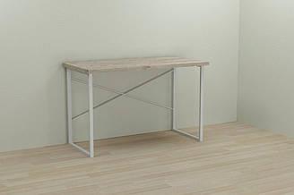 Компьютерный стол Ferrum-decor Дейв 75x140x70 белый ДСП Дуб Шервуд 32мм ES, КОД: 2352363