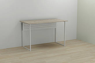 Компьютерный стол Ferrum-decor Майк 75x100x60 белый ДСП Дуб Шервуд 16мм ES, КОД: 2352487