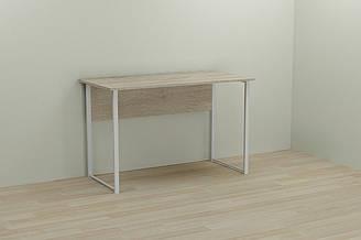 Компьютерный стол Ferrum-decor Курт 75x120x70 белый ДСП Дуб Сонома 16мм ES, КОД: 2352580