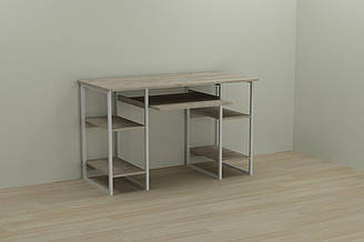 Компьютерный стол Ferrum-decor Тим 75x120x60 белый ДСП Дуб Шервуд 16мм ES, КОД: 2352642