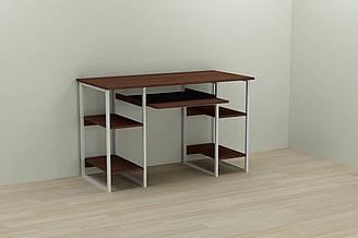 Компьютерный стол Ferrum-decor Тим 75x140x70 белый ДСП Венге 16мм ES, КОД: 2352673
