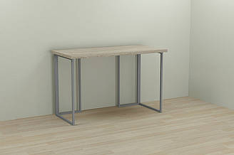 Компьютерный стол Ferrum-decor Ханна 75x140x70 серый ДСП Дуб Сонома 32мм ES, КОД: 2352735