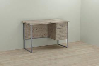 Компьютерный стол Ferrum-decor Гарри 75x140x60 серый ДСП Дуб Шервуд 32мм ES, КОД: 2352797