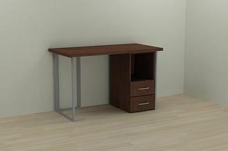 Компьютерный стол Ferrum-decor Отто 75x120x60 серый ДСП Венге 32мм ES, КОД: 2352828