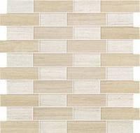 Плитка Мозаика Atlas Concorde Sunrock Travertino Almond + White Mosaico Fabric ASOG
