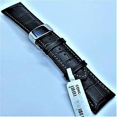 24 мм Шкіряний Ремінець для годинника CONDOR 631.24.04 Чорний Ремінець на годинник з Натуральної шкіри