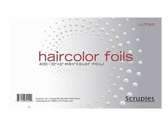 Фольга для обесцвечивания волос SCRUPLES Haircolor Jumbo Foils 10 x 6 8942 ES, КОД: 2408166