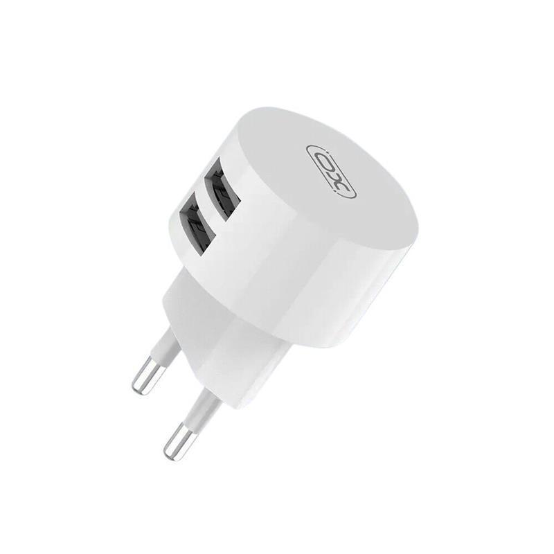 Сетевое зарядное устройство XO L62 (2USB, 2.4A) White (00000013650) + кабель USB Type-C