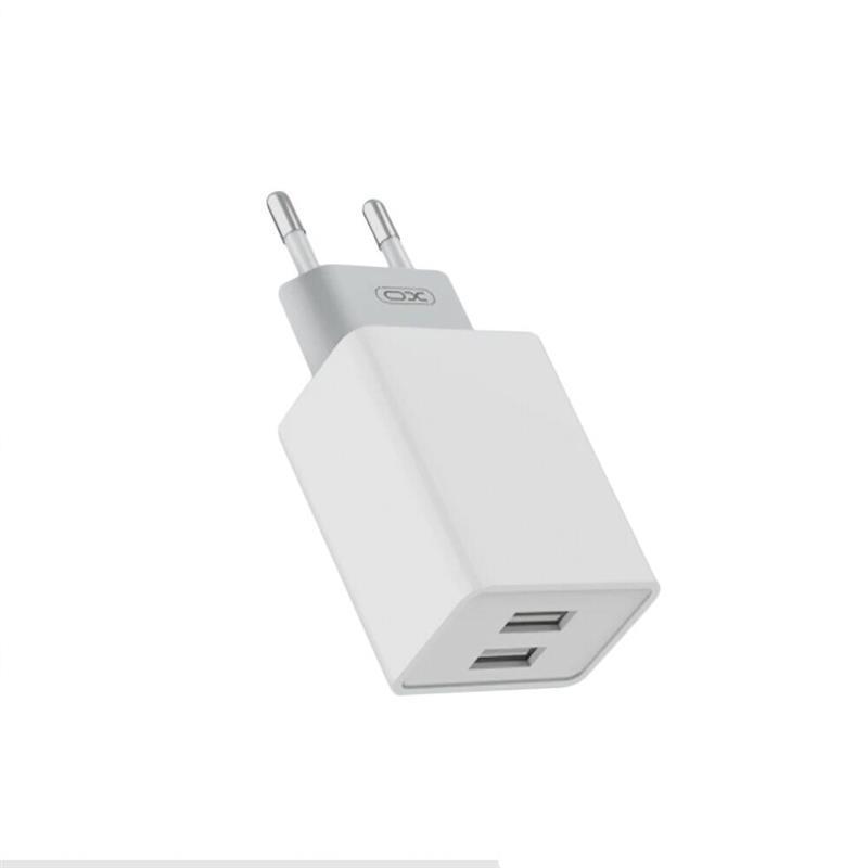 Сетевое зарядное устройство XO L65 (2USB, 2.4A) White (00000013651) + кабель USB Type-C