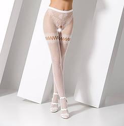 Эротические колготки Passion S015 размер универсальный Белый PSS015W ES, КОД: 1256784