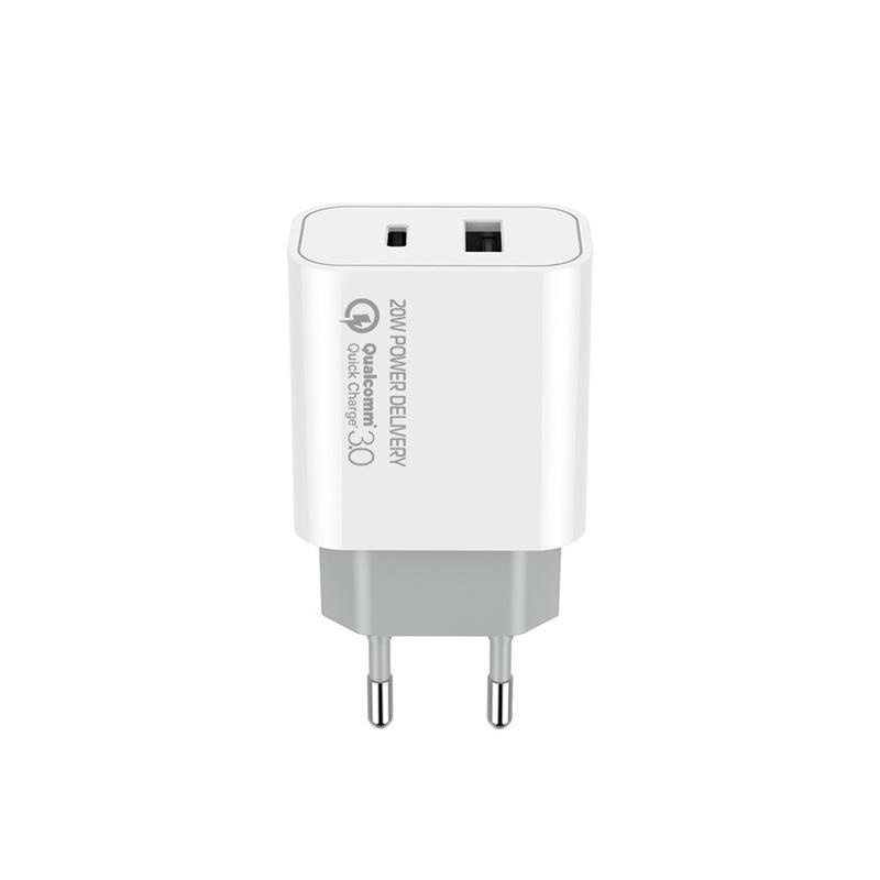 Сетевое зарядное устройство ColorWay (1USB Type-C PDx3A;1USBx4A) White (CW-CHS025QPD-WT)