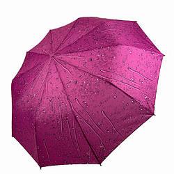 Складной женский зонт полуавтомат Капли дождя от SL Cиреневый hub1605-2 ES, КОД: 1868924
