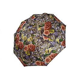 Женский зонт полуавтомат Max с яркими красочными принтами на 9 спиц hub3058-7 ES, КОД: 2400299