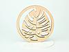 Круглая подставка под кружку дерево с красивым дизайном, фото 2