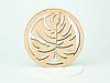 Круглая подставка под кружку дерево с красивым дизайном, фото 6