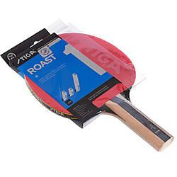 Ракетка для настольного тенниса 1 штука древесина, резина STIGA SGA-1211171737 ROAST 1 ES, КОД: 2459331