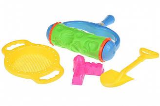 Набор для игры с песком Same Toy Валик зеленый 4 шт HY-1904WUt-1 ES, КОД: 2433277