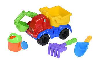 Набор для игры с песком Same Toy с Экскаватором красный HY-1810WUt-1 ES, КОД: 2433479