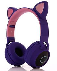 Беспроводные LED наушники с кошачьими ушками Fingertime BT028C Purple JBT028CPurple ES, КОД: 1650361