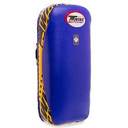 Макивара тай-пэд из натуральной кожи planeta-sport TWINS KPL-2-L L-20x41x6см Синий-желтый ES, КОД: 2381365