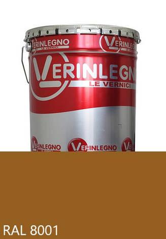 Фарба поліуретанова для меблів Verinlegno Італія, Колір RAL 8001, двокомпонентна, фото 2