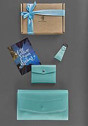 Женский подарочный набор BlankNote Элис Голубой с бирюзовым BN-set-access-22-tiffany ES, КОД: 355897