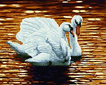Лебеді на ставку