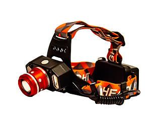 Фонарь налобный LED Headlight P-1008-T6 4 режима Orange ES, КОД: 1935691